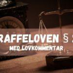 Straffeloven § 26 med lovkommentar