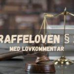 Straffeloven § 29 med lovkommentar